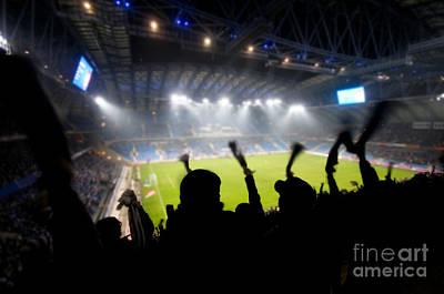 Photograph - Fans Celebrating Goal by Michal Bednarek