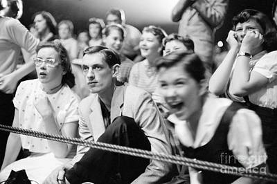 Elvis Presley Photograph - Fans Reacting To Elvis Presley Performing 1956 by The Harrington Collection