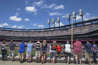 Photograph - Fans Watching Tiger Game by John McGraw