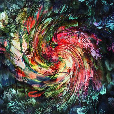 Abstract Digital Art Mixed Media - Fantasia By Night-abstract by Georgiana Romanovna