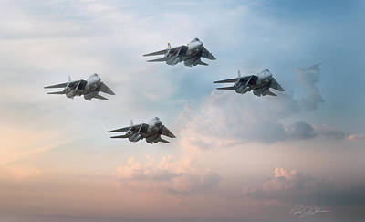 F-14 Digital Art - Fantastic Four by Peter Chilelli
