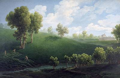 Fantastic Landscape Art Print by Giuseppe Pietro Bagetti