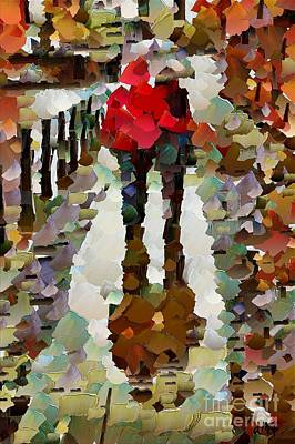 Autumn Painting - Fantastic Rainy Day by Dragica  Micki Fortuna