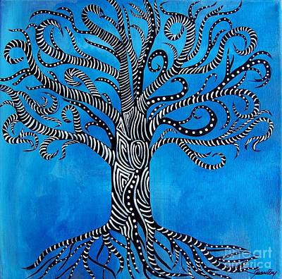 Fantastical Tree Of Life Art Print