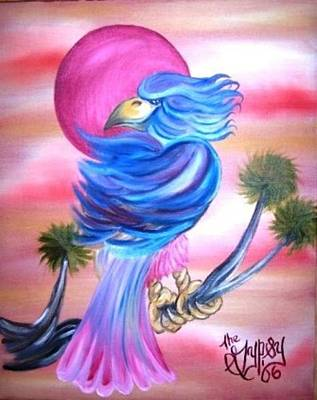 Painting - Fantasy Bird by The GYPSY
