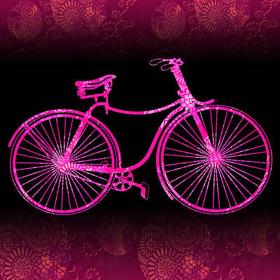 Fantasy Bycicle - Extreme Pink Art Print by Andrea Ribeiro