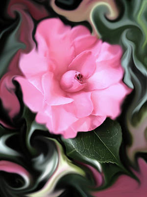 Camellia Photograph - Fantasy Camellia Flower by Jennie Marie Schell