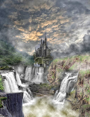Fantasy Castle Art Print by Regina  Williams