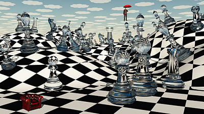 Recently Sold - Surrealism Digital Art Rights Managed Images - Fantasy Chess Royalty-Free Image by Bruce Rolff