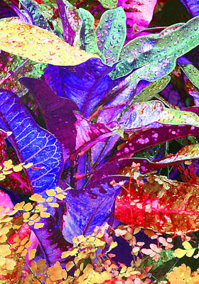 Photograph - Fantasy Colored Leaf Abstract by Margaret Saheed