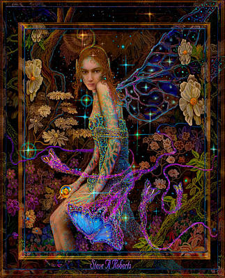 Painting - Fantasy Fairy Princess-angel Tarot Card by Steve Roberts