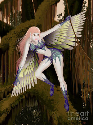 Fantasy Fairy2 Art Print by Kriss Orayan