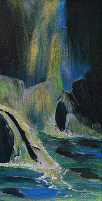 Painting - Fantasy Falls by Donna Blackhall