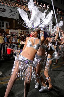 Priska Wettstein Pink Hues - Fantasy Fest Dancers in Key West by Carl Purcell