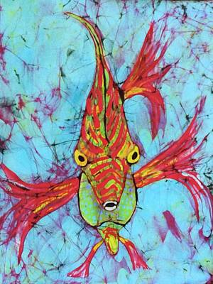 Tapestry - Textile - Fantasy Fish by Kay Shaffer