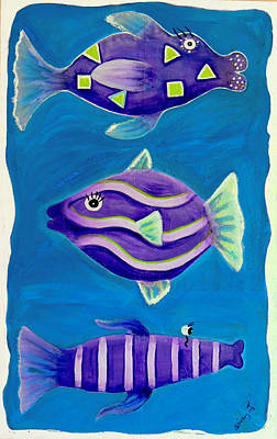 Painting - Fantasy Fish by Shirley Smith