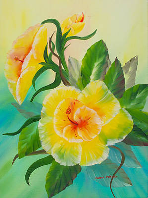 Painting - Fantasy Flower #1 by Carol L Miller