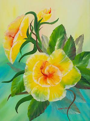 Painting - Fantasy Flower #1 by Carol L Miller