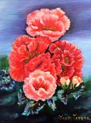 Fantasy Flowers Art Print by Janis  Tafoya