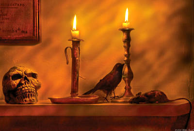 Candle Stick Photograph - Fantasy - In A Wizard's House by Mike Savad