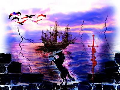 Digital Art - Fantasy Island by Michael Damiani