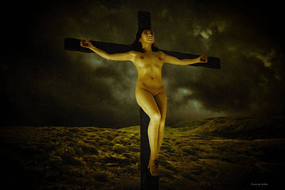 Asian Jesus Crucifix Art Print by Ramon Martinez