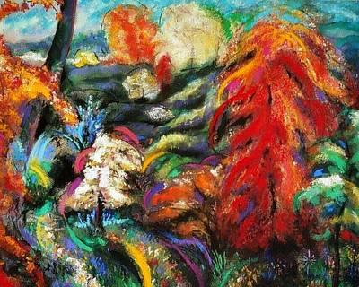 Pastel - Fantasy Landscape by Jodie Marie Anne Richardson Traugott          aka jm-ART