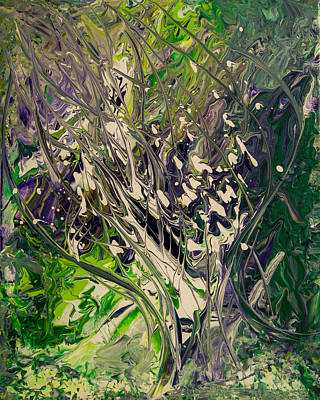Emerald Green Abstract Painting - Fantasy Of The Original Tree by Adriana Groza