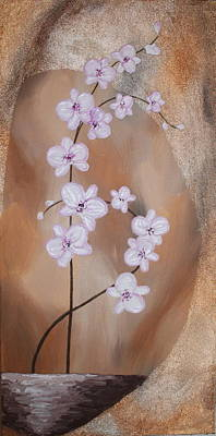 Abstract Art Painting - Fantasy Orchid I by Mariya Kazarinova