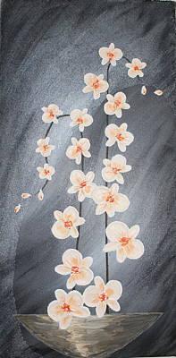 Abstract Flower Painting - Fantasy Orchid II by Mariya Kazarinova