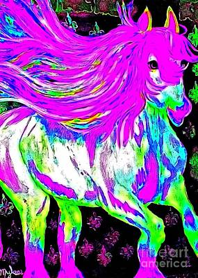 Painting - Fantasy Painted Dream Horse by Saundra Myles