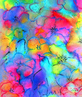 Painting - Fantasy Rainbow Colors by Hazel Holland
