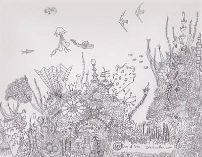 Drawing - Fantasy Reef by Daniel Noe