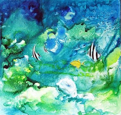 Fantasy Sea Art Print by Joan Hartenstein