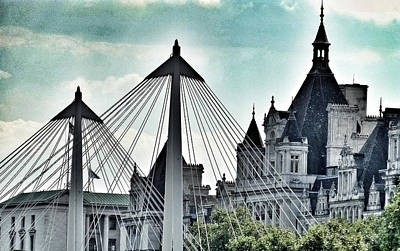 Fantasy London . Old Spires New Print by Connie Handscomb