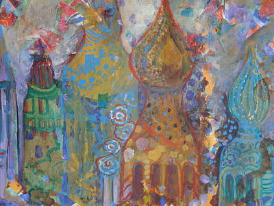 Onion Domes Painting - Fantasy Square by Norma Malerich