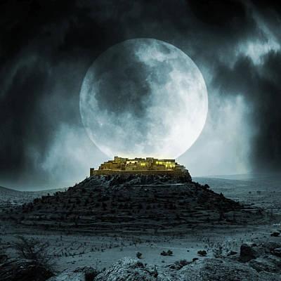 Horror Digital Art - Fantasy Stronghold by Jaroslaw Grudzinski