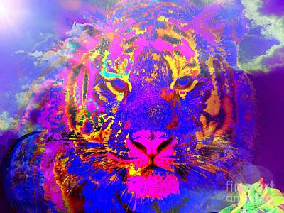Painting - Fantasy Tiger Of My Dreams by Saundra Myles