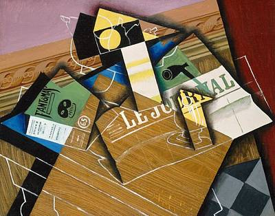 Art Journal Painting - Fantomas by Juan Gris