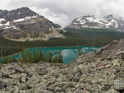 Photograph - Far Above Lake O'hara by Charles Kozierok