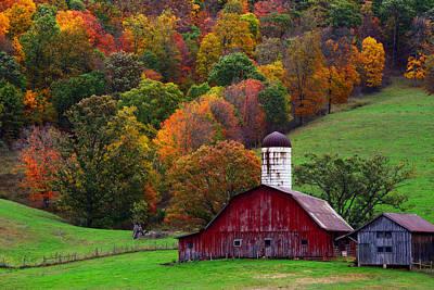 Photograph - Far Away Farms by Bernard Chen