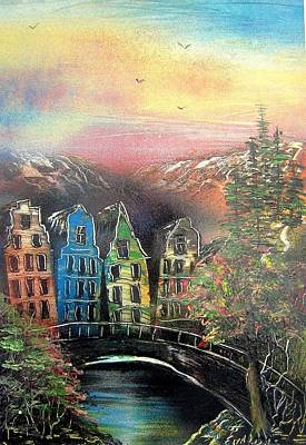 Far Far Away Art Print by Evaldo Art
