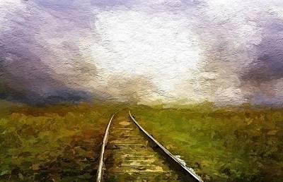 Railway Mixed Media - Far Far Away by Steve K