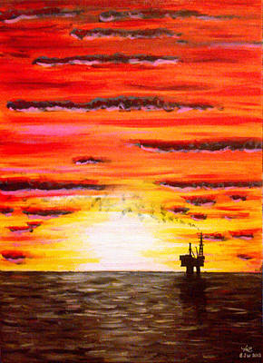 Esso Oil Painting - Far From Home by BJ Wight