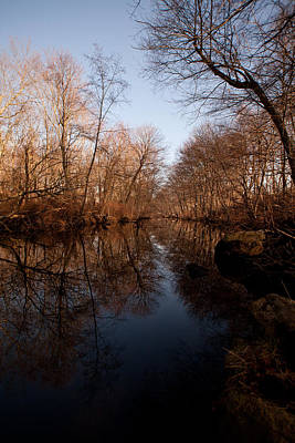 Connecticut Landscape Photograph - Far Mill River Reflects by Karol Livote