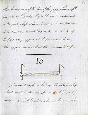 Amphibians Photograph - Faraday's Notes On Tatum's Lectures by Royal Institution Of Great Britain
