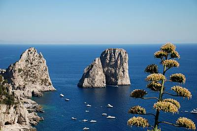 Art Print featuring the photograph Faraglioni In Capri by Dany Lison