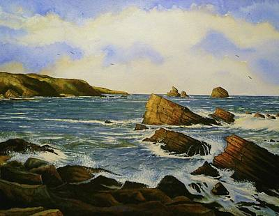 Majestic Seascapes Painting - Faraid Head by Andrew Read