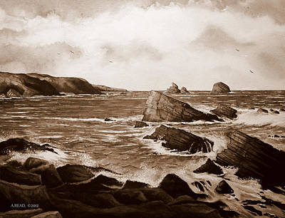 Scotland Painting - Faraid Head Durness Scotland by Andrew Read