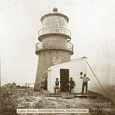 Photograph - Farallon Island Lighthouse Pacific Ocean Circa 1880 by California Views Mr Pat Hathaway Archives